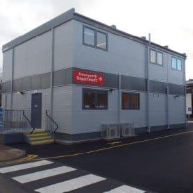 SiBCAS Modular Office Building, York General Hospital, UK
