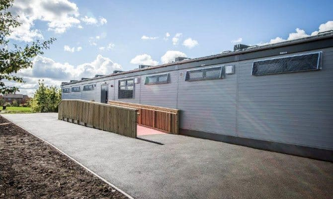 SiBCAS Modular School Buildings, East Manchester Academy, UK.