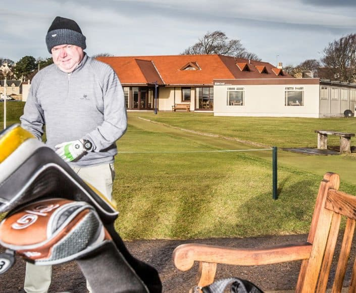 Temporary Site Accommodation Gullane Golf Club Golfer