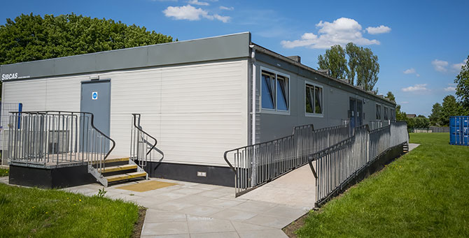 Modular Nursery- external image of Bonnybridge Nursery Campus. Modular Construction by SiBCAS UK