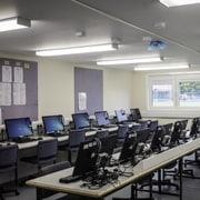 Computer labs inside SiBCAS Modular PermaSpace Classrooms at Newcastle Royal Grammar School.