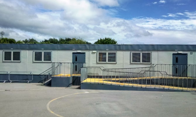 Portable Mobile Classrooms Liverpool - KIER CONSTRUCTION NORTHERN - BLACKMOOR PARK INFANT SCHOOL