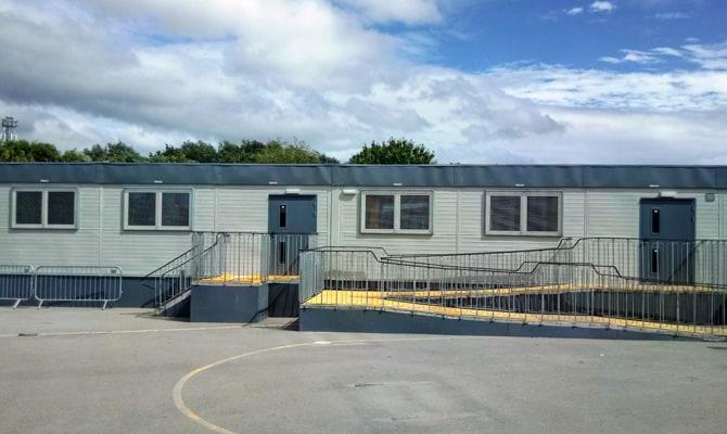 Portable Mobile Classrooms Liverpool - KIER CONSTRUCTION NORTHERN - BLACKMOOR PARK INFANT SCHOOL